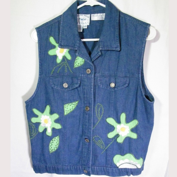 County Wear Casuals Jackets & Blazers - Country Wear Casuals Lorree G Star Denim Vest Sz S